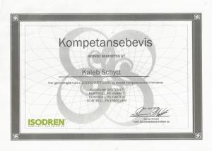 ISODREN_Kompetansebevis_Kaleb Schytt